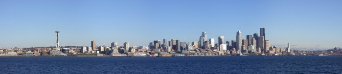 Photo Panoramique Seattle Skyline de Alkai Beach