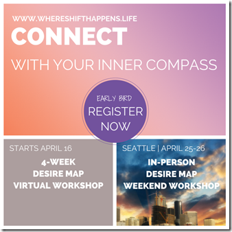 WHERE SHIFT HAPPENS - April Desire Map workshops - Inner compass