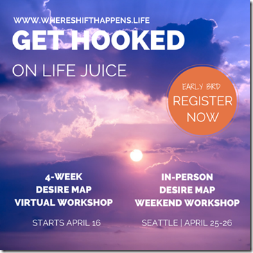 WHERE SHIFT HAPPENS - April Desire Map workshops - Life juice